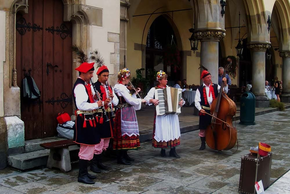 Polish musicians in Market Square