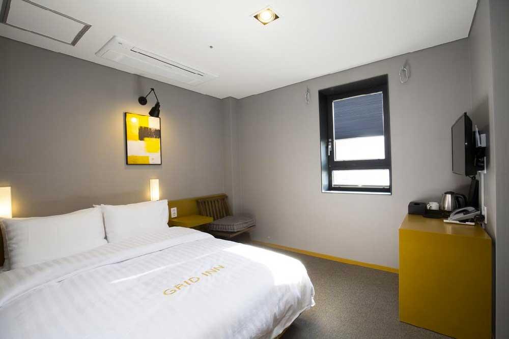 Room @ Grid Inn Hotel in Insadong, Seoul, Korea