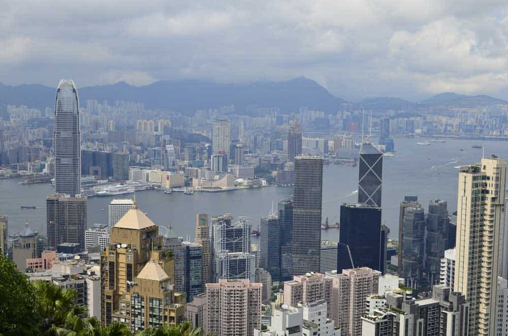 View of Hong Kong Skyline from Victoria Peak
