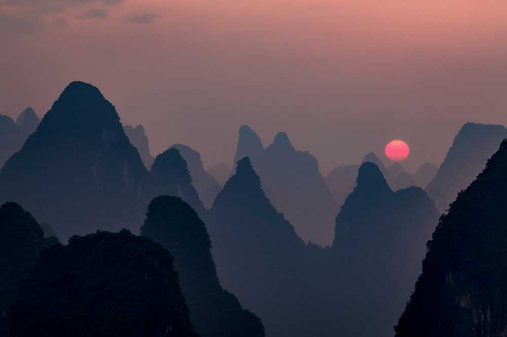 Sunset in Guangxi, China