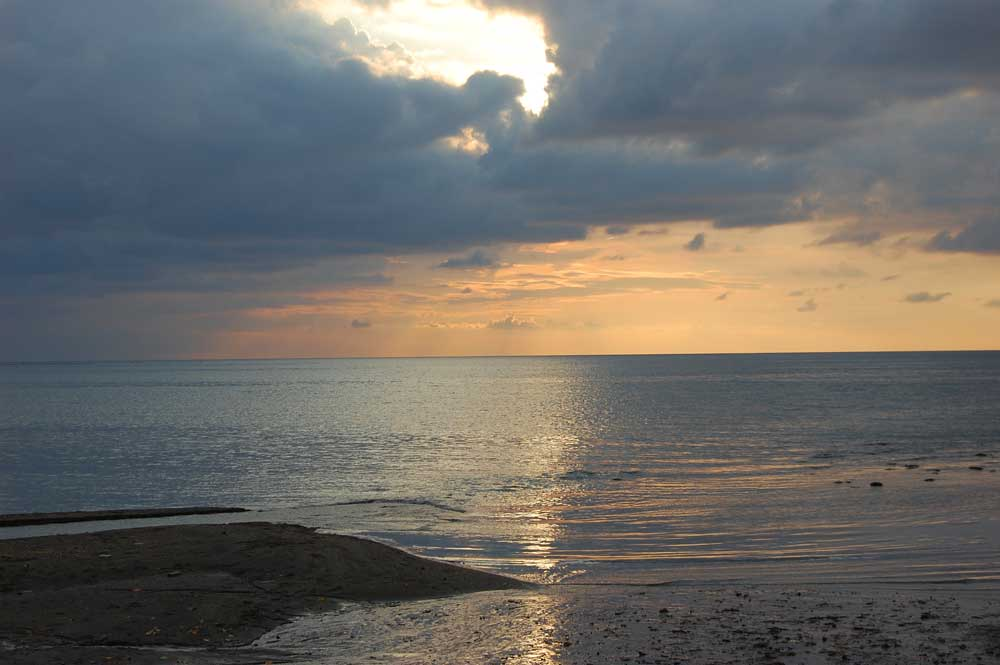 Sunset at Lovina Beach