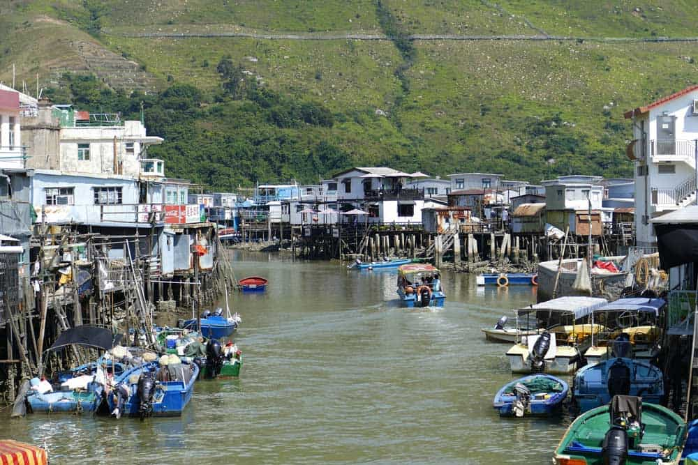 Tai O Fishing Village on Lantau Island, Hong Kong