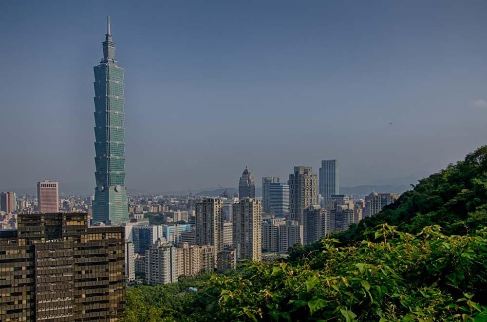Taipei 101 From Elephant Mountain in Taipei