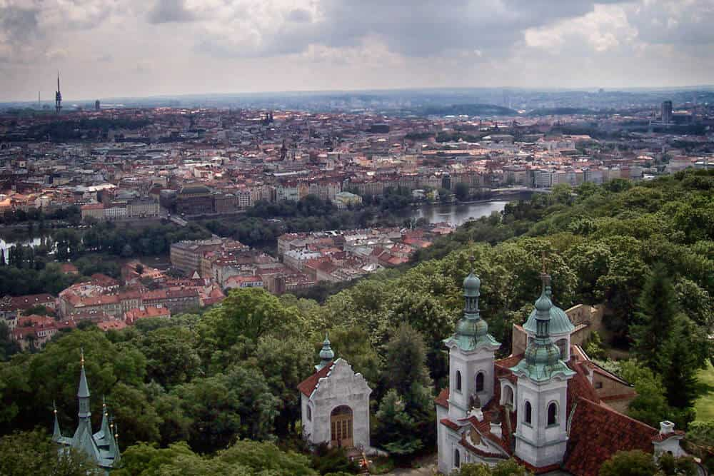 View from Petrin Hill, Prague, Czech Republic
