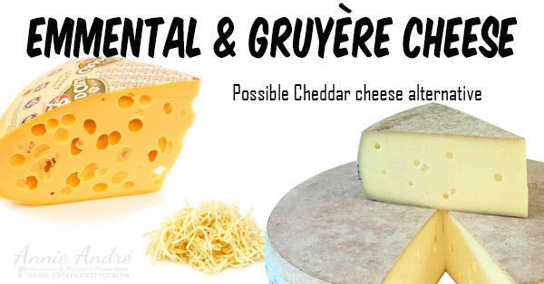 Emmental-Gruyere-Cheese, a cousin to Cheddar and a great alternative to Cheddar