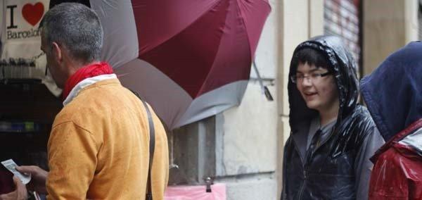 raining in Barcelona