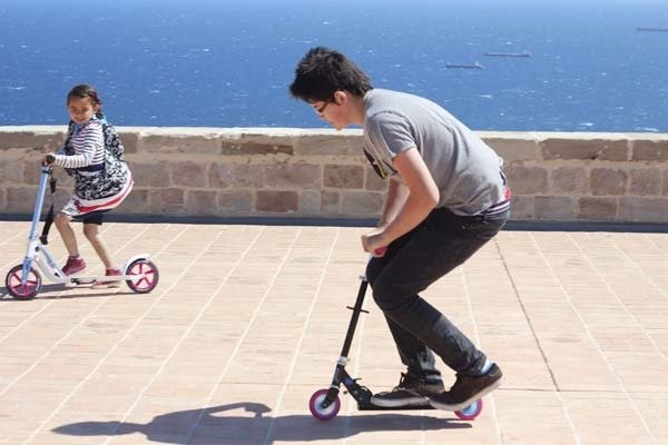 bring a scooter if you plan on doing a lot of walking in Barcelona.