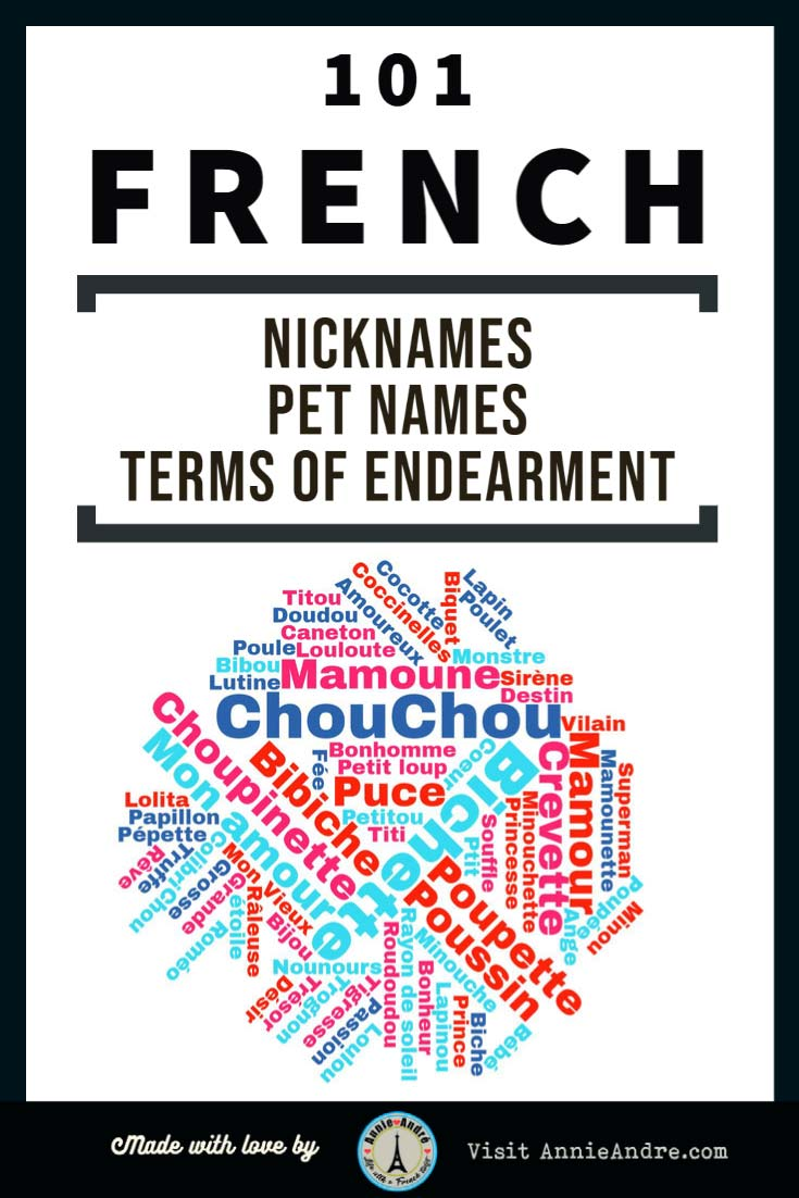 Pin: Huge list of French nicknames, pet names and French terms of endearment to call your boyfriend or girlfriend