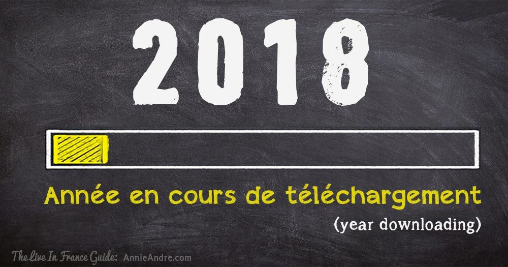Bonne Année Happy New Year's cards in french