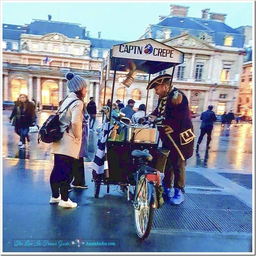 Street vendor in Paris called Captn Crepe