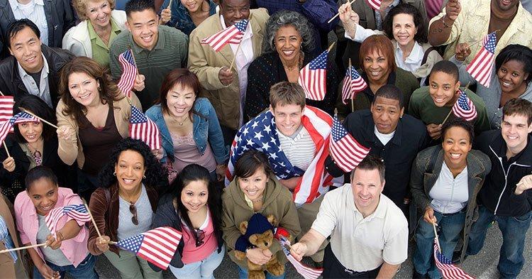 Americans like flags