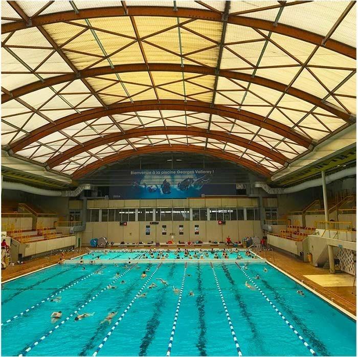 Paris public pool Piscine Georges Vallerey