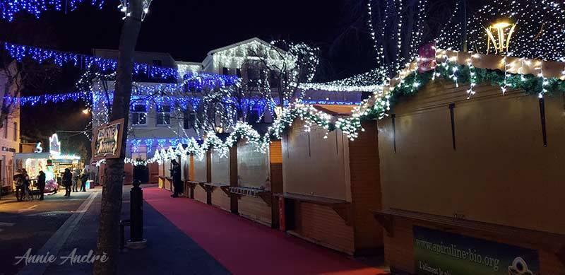 La Garde France, Christmas market chalets after closing