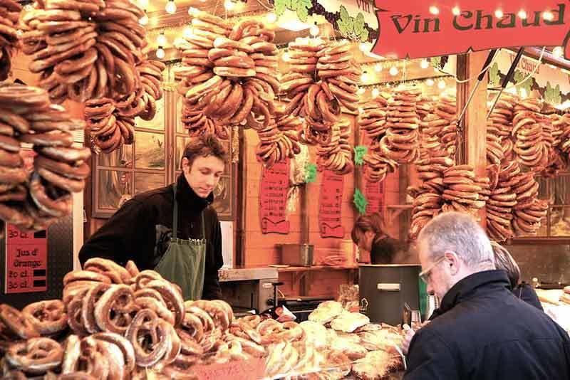 bretzels at Strasbourgh christmas market