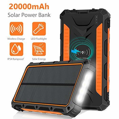 Portable Solar Power Bank Battery