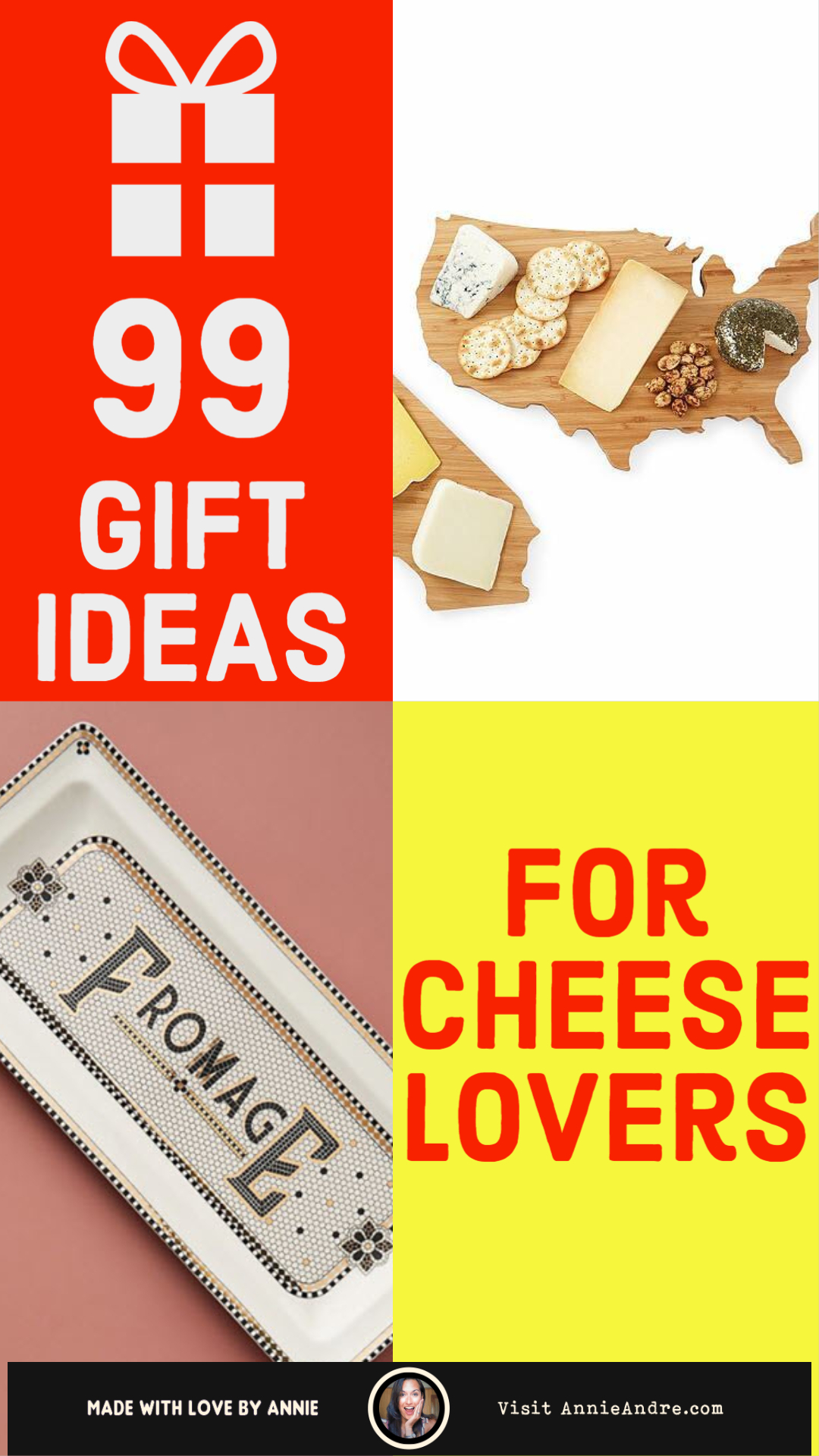 The Ultimate Gift Guide For Cheese Lovers based on their interests and personality