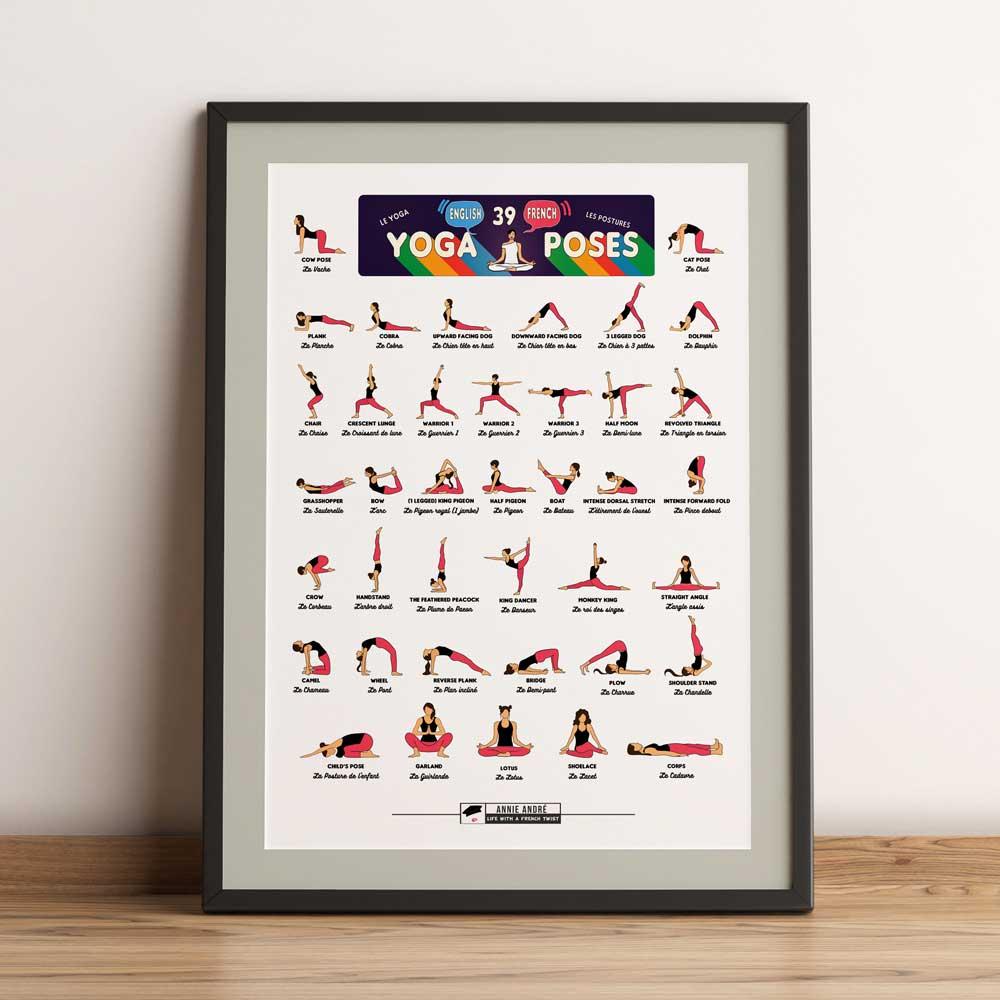 Printable Yoga Chart (Colour header)