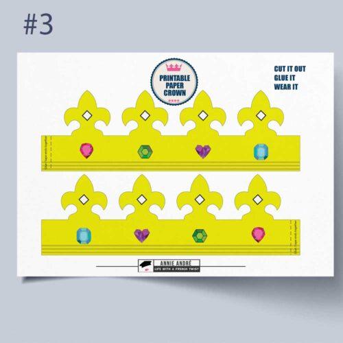 Instant download: Free printable paper crown.