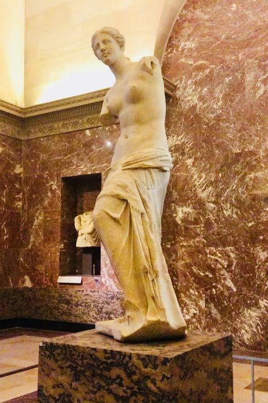 Ancient greek goddess Aphrodite aka Venus de Milo at the L'ouvre