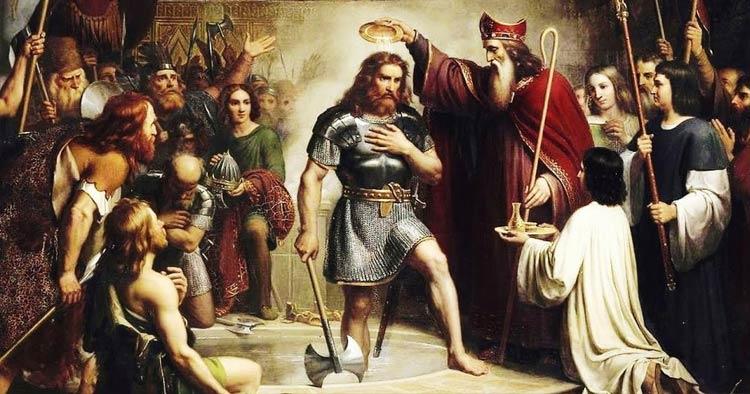 Baptism of Clovis, by Master of Saint Giles, c.1500,