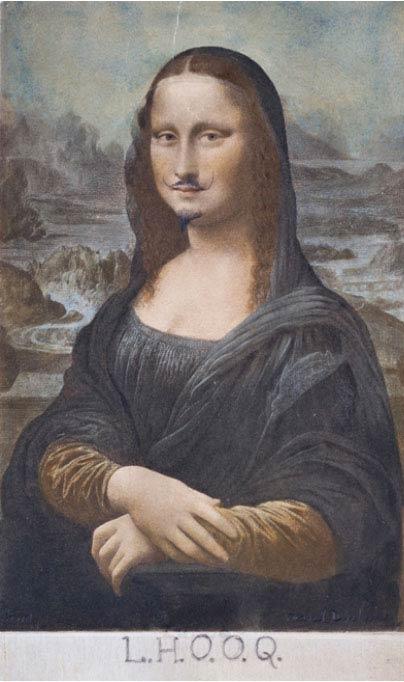 Marcel Duchamp Mona Lisa L.H.O.O.Q.