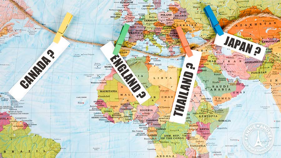 Country names, genders, and nationalities in French