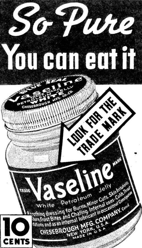 Is Vaseline safe to eat?