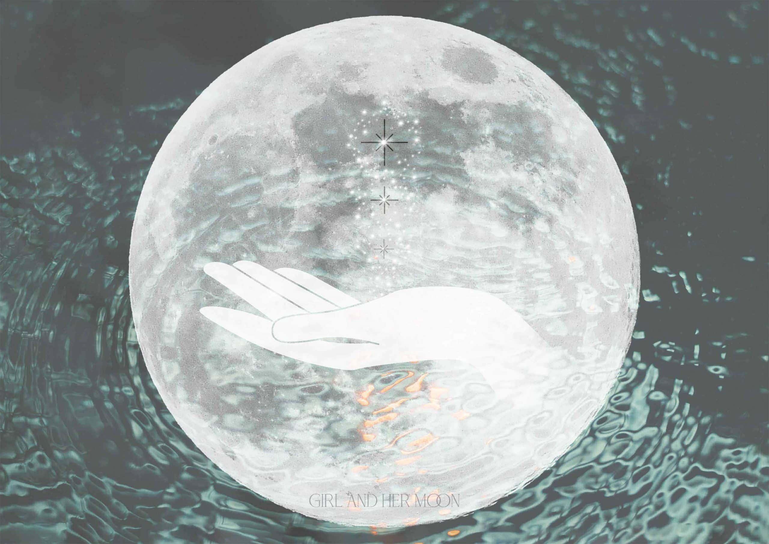 Pisces Full Moon September 2020 - Girl and Her Moon