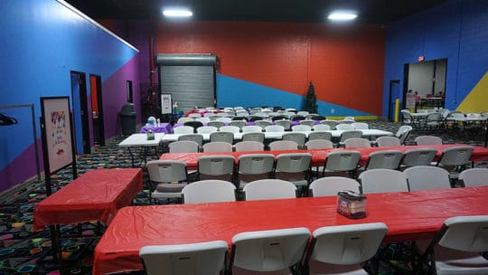 shared birthday party hall