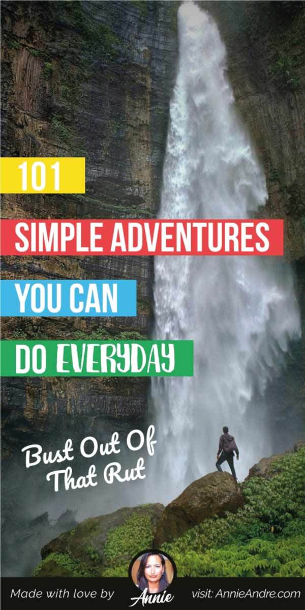 pintrest image for 101 adventures you can do everyday