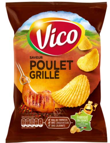 Grilled chicken chips