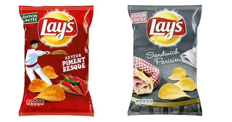 French lays chips: interesting potato chip flavours in France