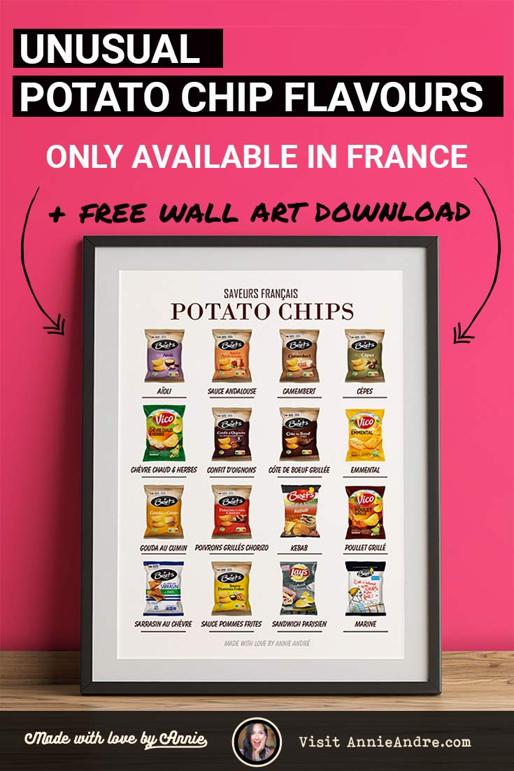 PIN unusual potato chip flavours you can only try in france