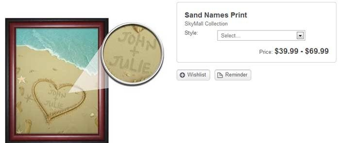 sand-name-photo: stupid skymall products you can buy