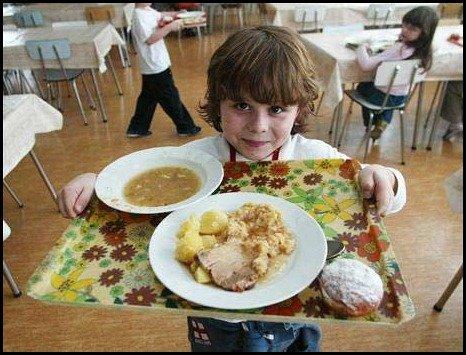 school lunces around the world/Czech: childrens school lunch