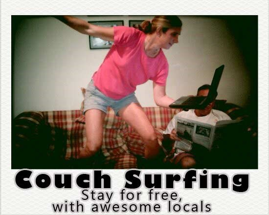 Couch surfing, stay with locals for free