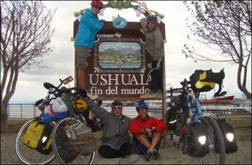 Vogel Family: Family on bikes reach the end-of-the-world