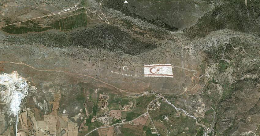 giant mountain flag northern cyprus