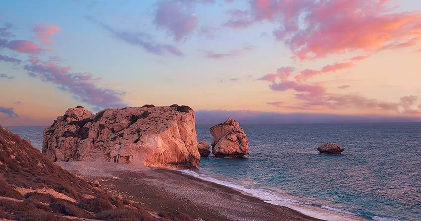 Aphrodite rock, birthplace of Aphrodite (Venus) in Paphos, Cyprus