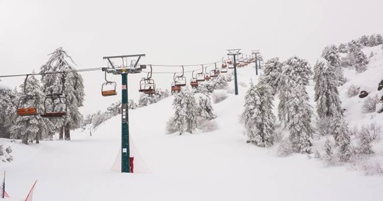 ski Mount Olympus in Cyprus