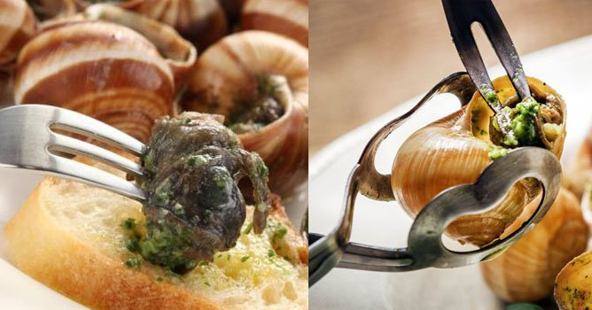French stereotypes and cliches: Escargot, land snails