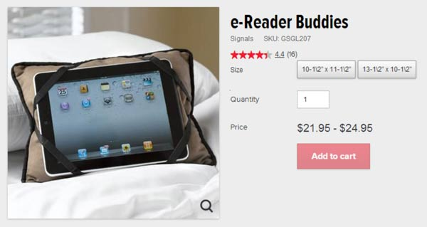 skymall e-Reader buddies pillow stupid gifts you can buy