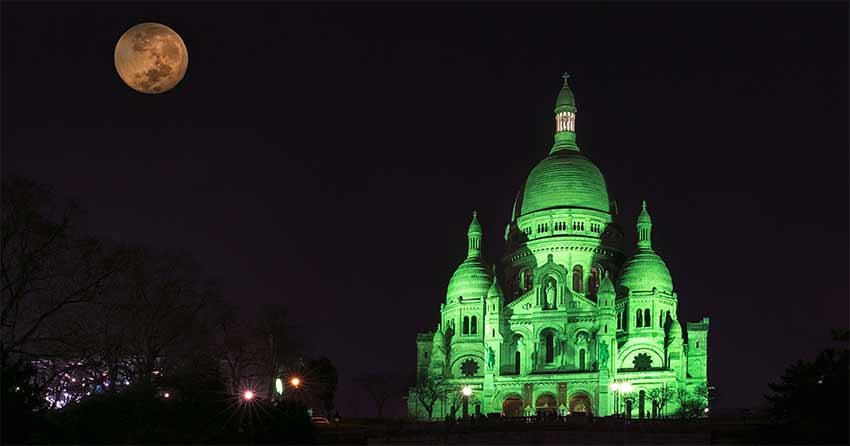 Sacre Coeur go green project for Saint Patrick's Day