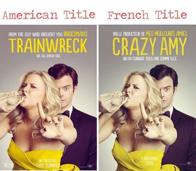 Train Wreck =Crazy Amy movie title for French audience