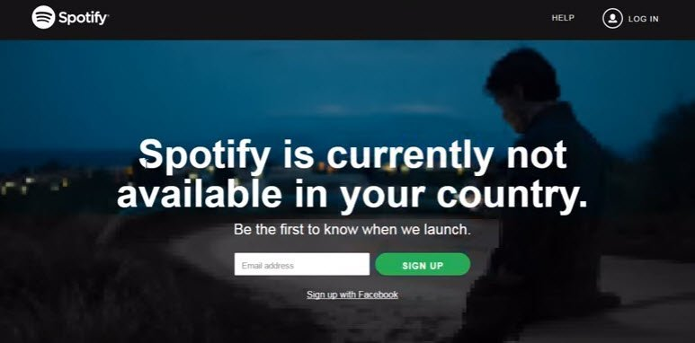 image of spotify geo blocked