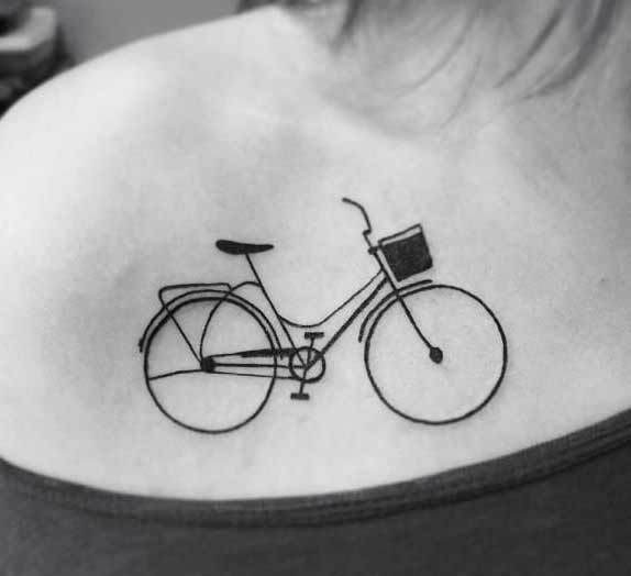 Bicycle tattoo, a French invention. Not the tattoo, just the bike