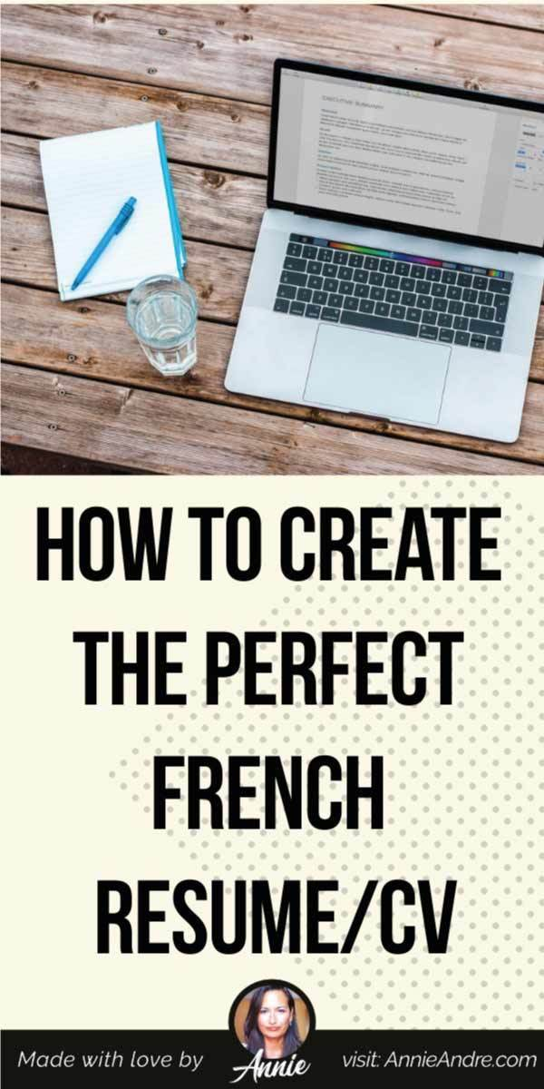 pintrest pin on how to make a french cv