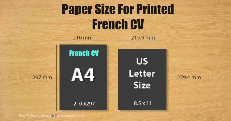 French-letter-size-A4-CV