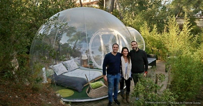 glamping at the Attrap Reves bubble hotel minutes from Marseille France