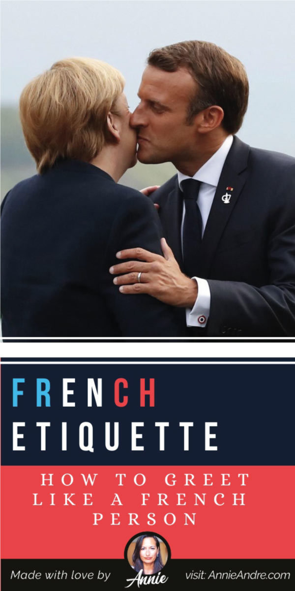 pintrest pin about how to greet like a french person like a french person